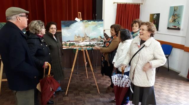 """Visita à Exposição de Pintura """" Coisas, Momentos e Lugares"""""""