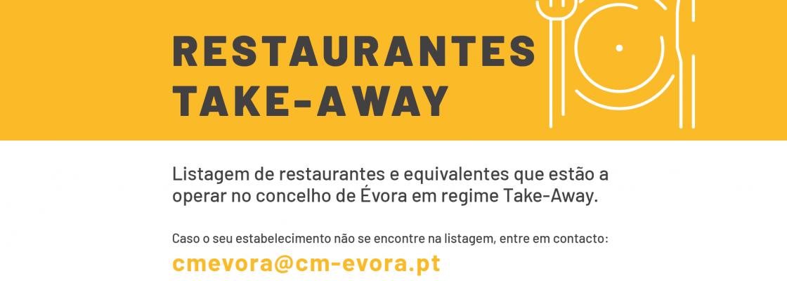Restaurantes em Évora a trabalhar em regime de venda para fora/take away ou entrega ao domicíli...