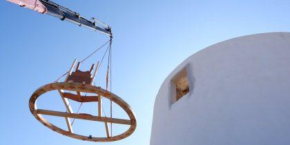 Emblemáticas obras de recuperação de um moinho estão em curso no Alto de São Bento