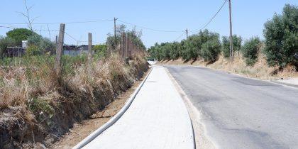 Concluído novo passeio pedonal na Estrada da Chainha
