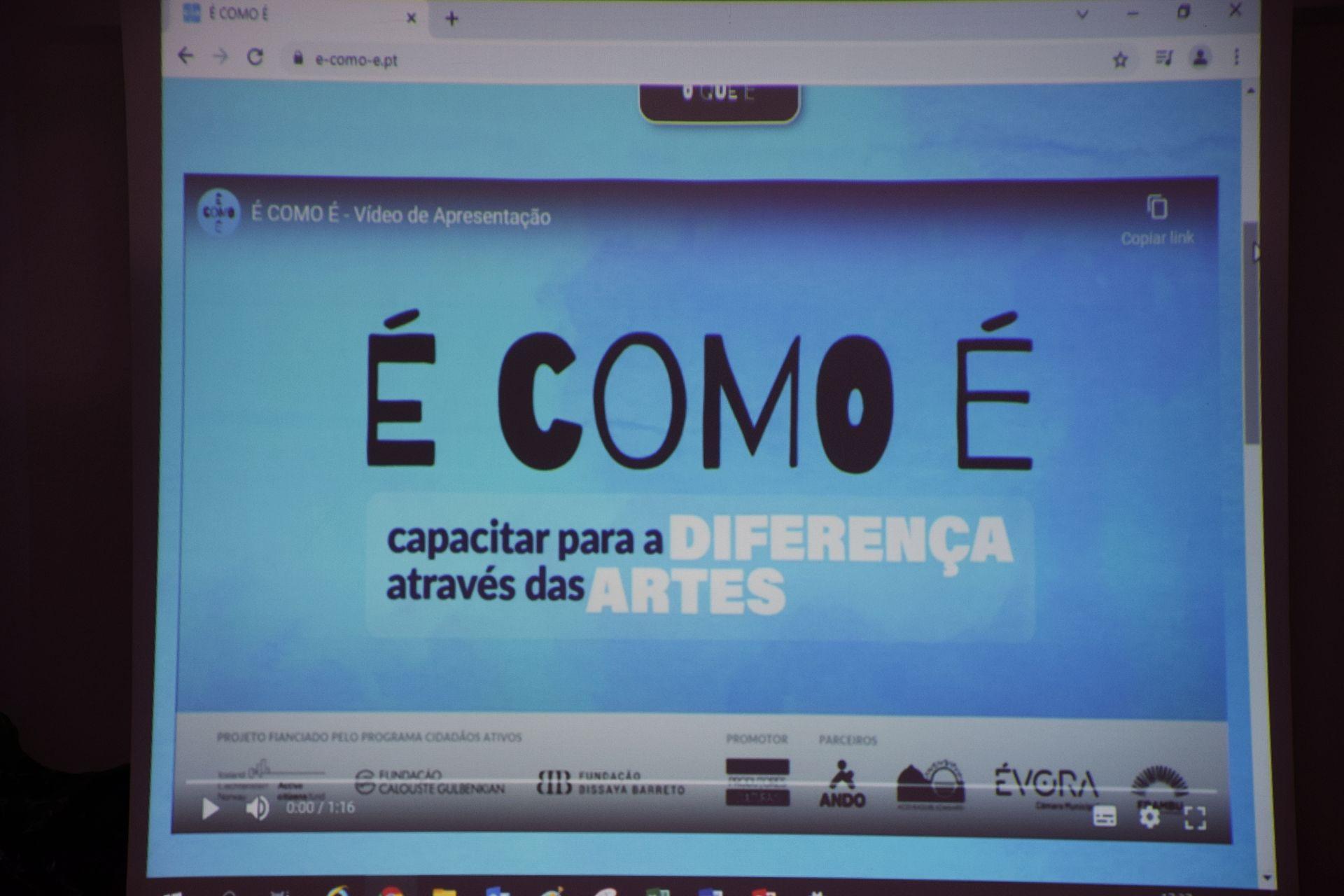 Projeto É COMO É foi apresentado na Ludoteca de Évora