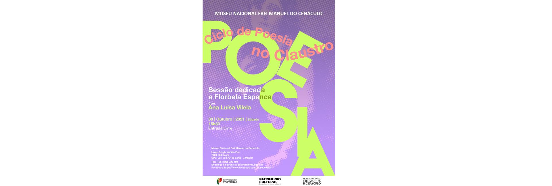 (Português) Ciclo «Poesia no Claustro» | sessão dedicada a Florbela Espanca